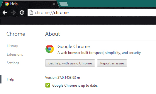 Chrome 27 Update