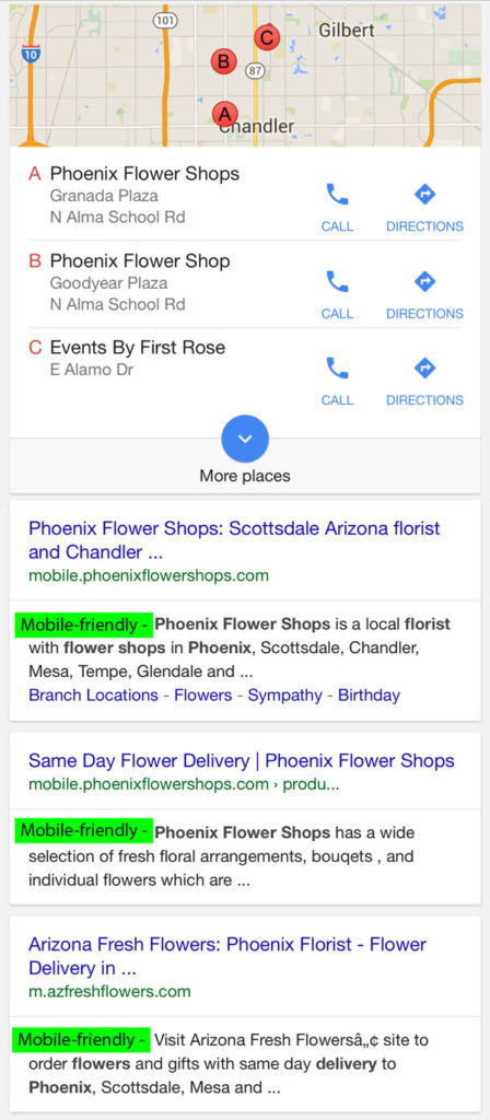 Flower Store Phoenix Mobile Search