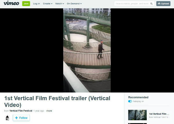 Vimeo Vertical Video Screenshot