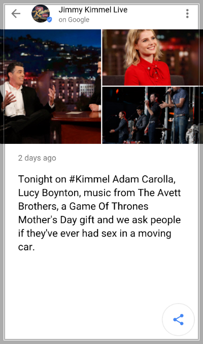 Jimmy Kimmel Post Straight To Google Search - ESEO