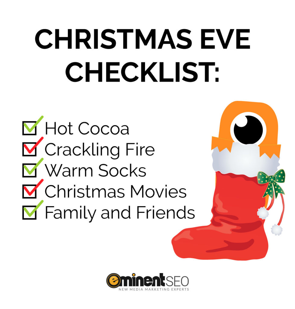 Christmas Eve Checklist Max Stocking - Eminent SEO